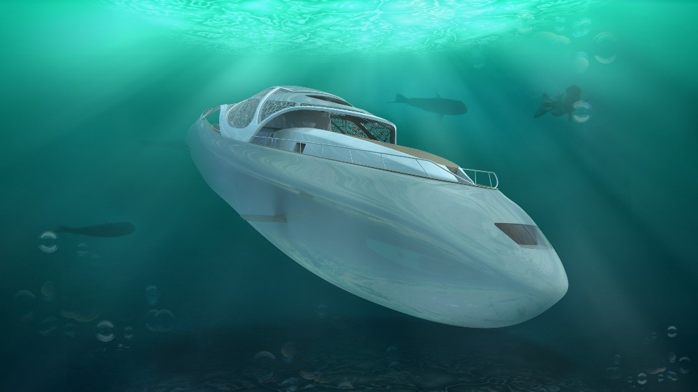 Submarine Superyacht Concept Renders